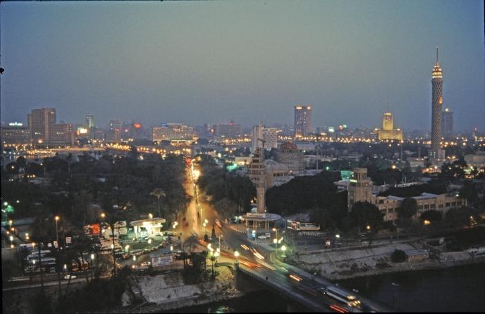 Der Verkehr in Kairo bei …