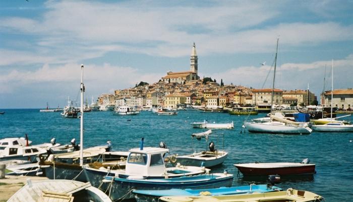 Der Hafen von Rovinj …