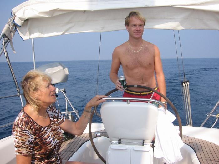Stephan ist solo an Bord …