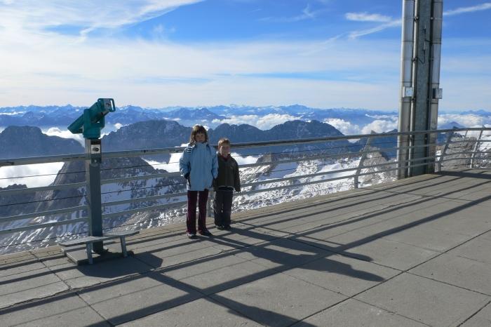 Von der Zugspitze, 2962m, …