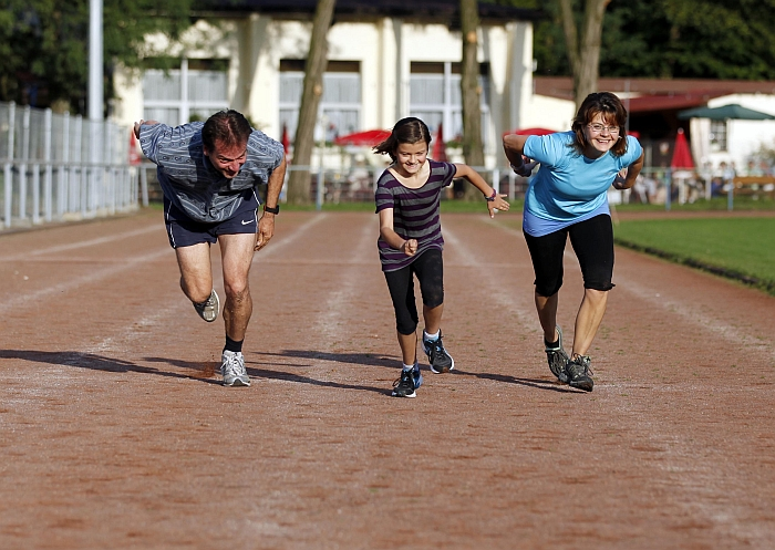 Eine sportliche Familie …