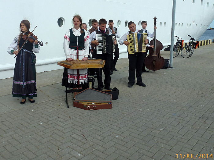 In Klaipeda (Memel) erwartet …
