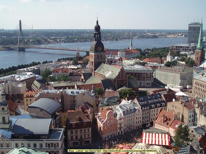 Die Altstadt von Riga am …